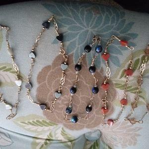 5 Colorful bracelets